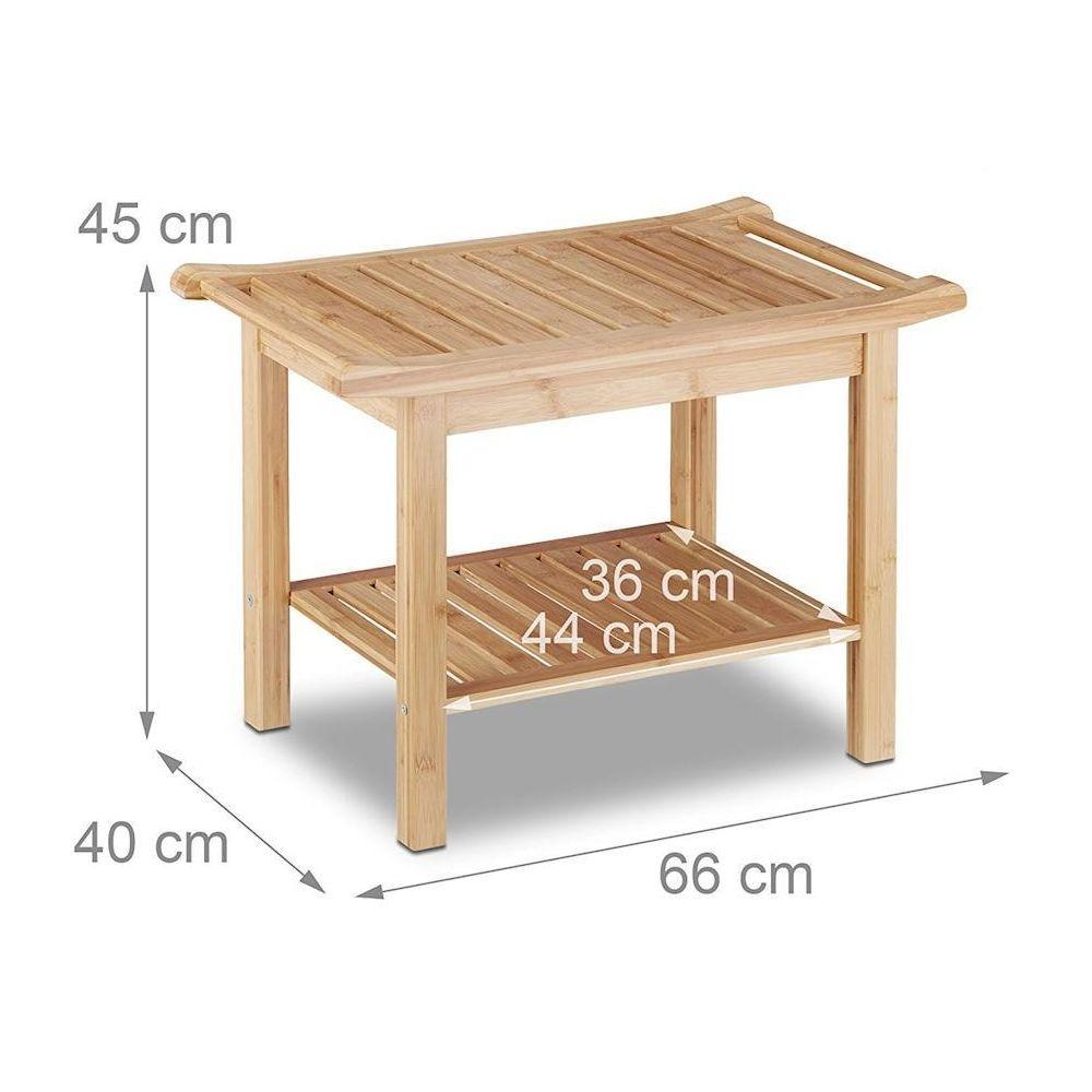 helloshop26 tabouret en bambou table basse d appoint salle de bain 3213047