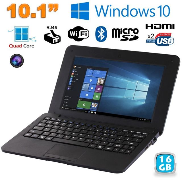 Yonis - Mini PC Portable Windows 10 pro Netbook 10' Notebook 1.83Ghz Noir Yonis   - Netbook
