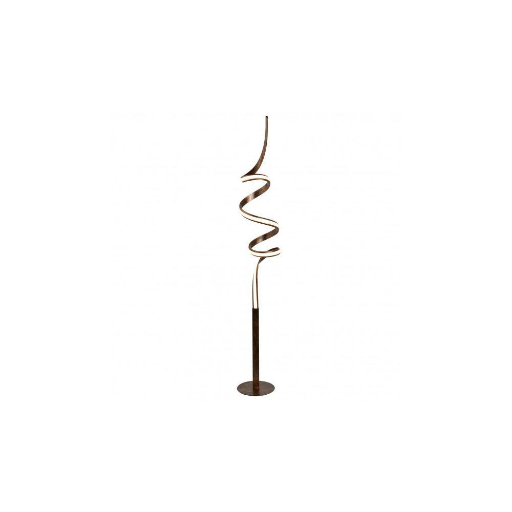 Searchlight Lampadaire Ribbon, marron et acrylique