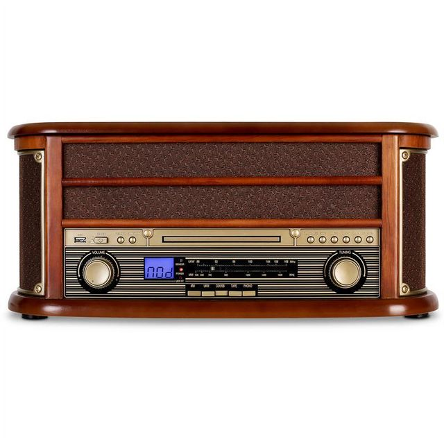 Auna Auna RM1-Belle Epoque 1908 Retro Stereo CD MP3 USB en bois AUNA