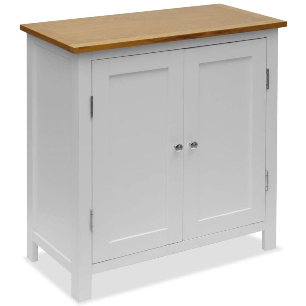 Vidaxl Armoire Chêne massif 70 x 35 x 75 cm | Blanc - Armoires et meubles de rangement - Buffets et bahuts | Blanc | Blanc
