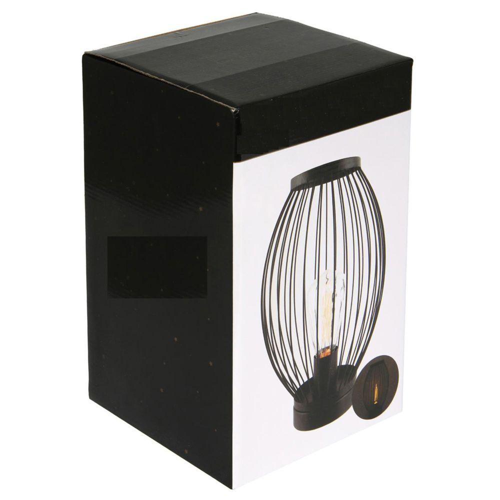 Pegane Décoration lumineuse en métal coloris noir - Dim : H 31 x L 19 x P 19 cm - PEGANE -