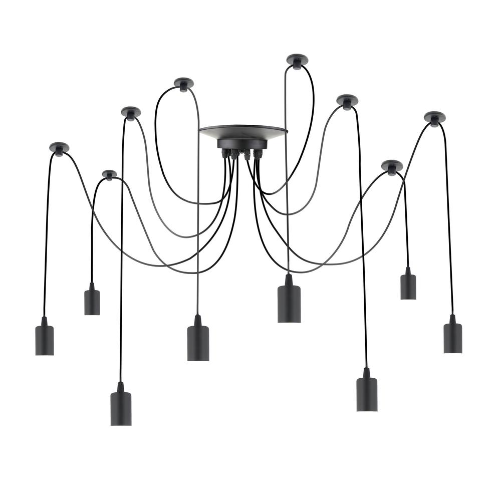 Primematik PrimeMatik - Lampe vintage pour 8 ampoule de fil E27 avec câble de 3m