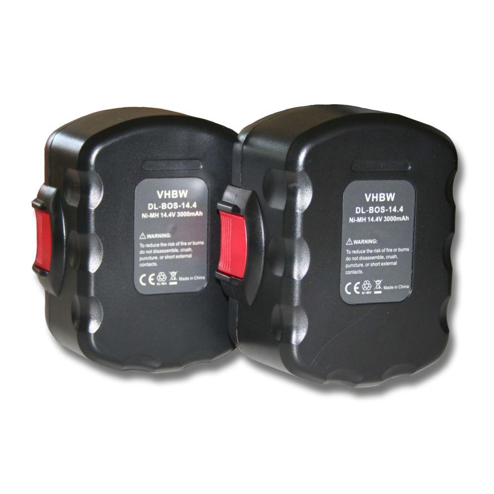 Vhbw Lot 2 batteries vhbw 3000mAh (14.4V) pour Bosch outils PSR 14.4, PSR 14.4-2, PSR 14.4, N. Remplace: Bosch 2 607 335 264,