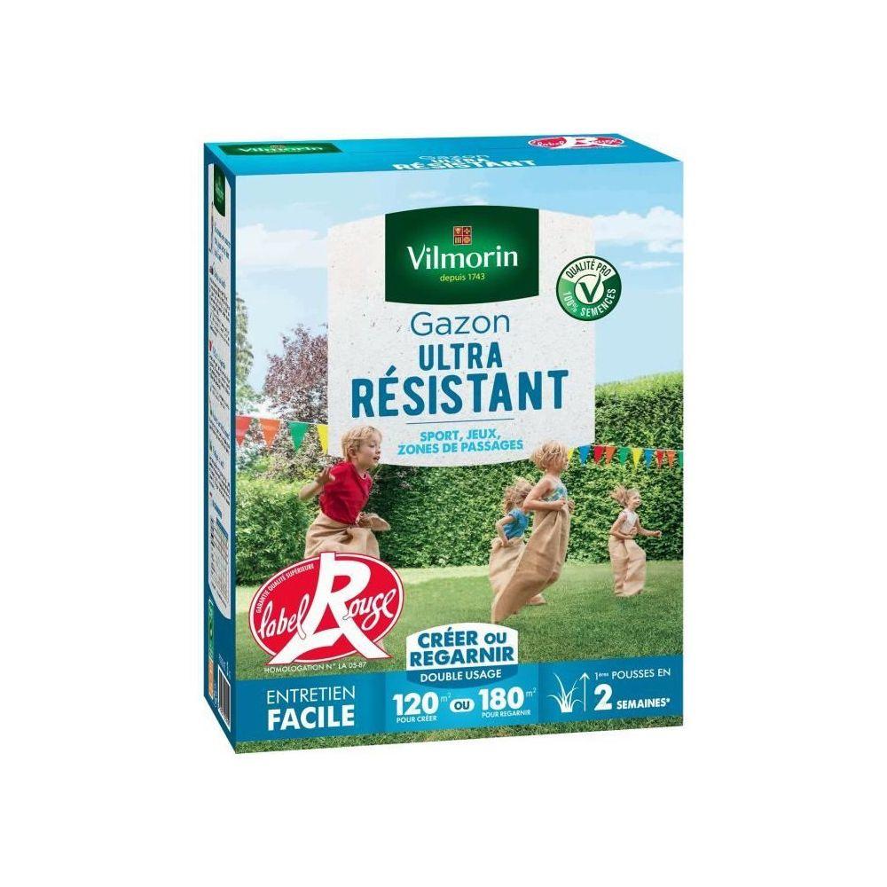 Vilmorin VILMORIN Semences de gazon ultra-résistant Label Rouge - 3 kg