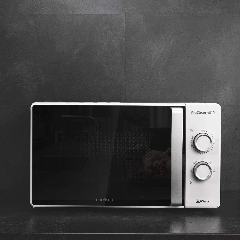 Cecotec Micro-ondes de 23L avec minuterie 700W noir blanc