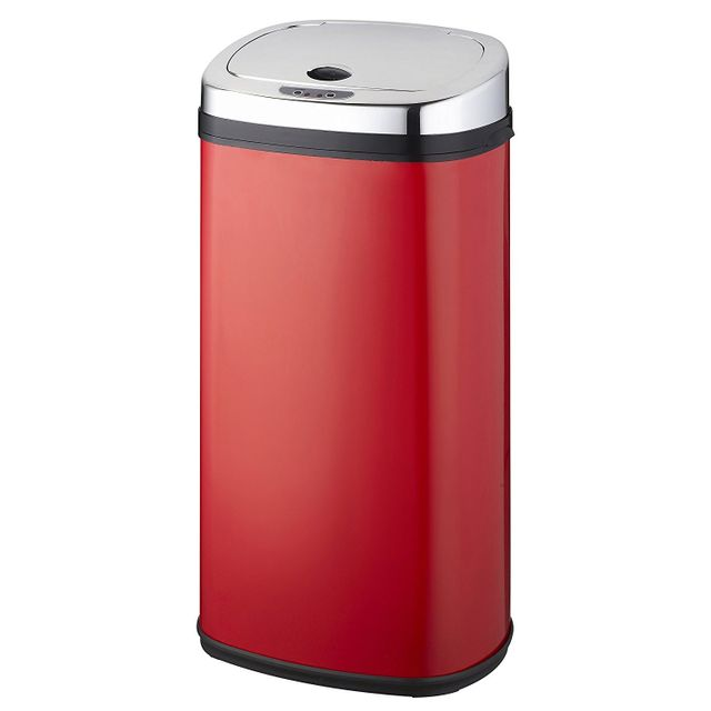 Kitchen Move - kitchen move - poubelle automatique 42l rouge/inox - bat-42ls02a red ss