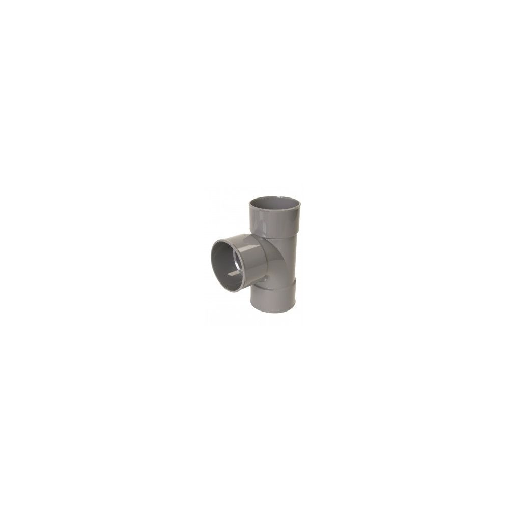 Nicoll Culotte FF simple 87°30 - BX188 - PVC gris - Ø 125 mm