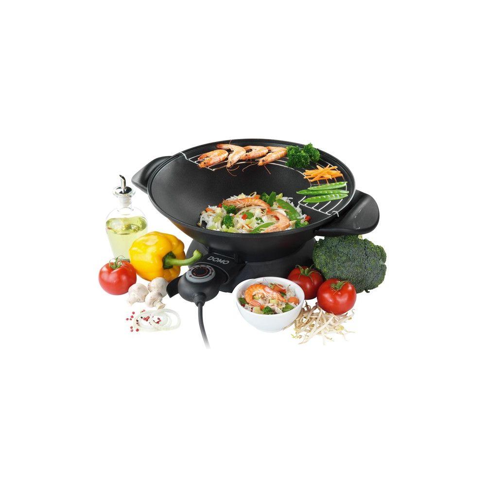 Domo domo - wok electrique 5,5l 1800w noir - do.8708