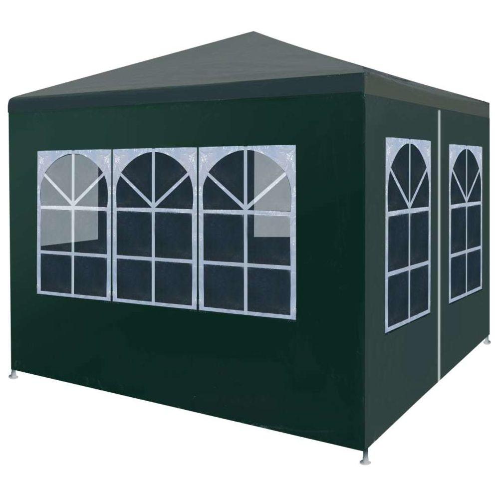Vidaxl vidaXL Tente de Réception 3x3 m Vert Jardin Terrasse Patio Pavillon Tonelle