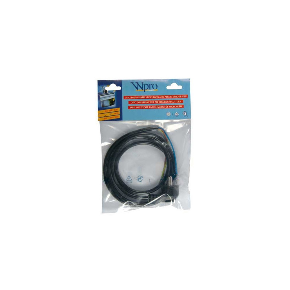 whirlpool CABLE HO5 VVF 3G1.5 AVEC PRISE 16A- LONG POUR INSTALLATION WHIRLPOOL - 481281729063