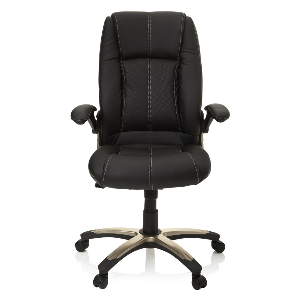 Hjh Office Siège de bureau / Fauteuil de direction PALATIN, simili cuir noir hjh OFFICE
