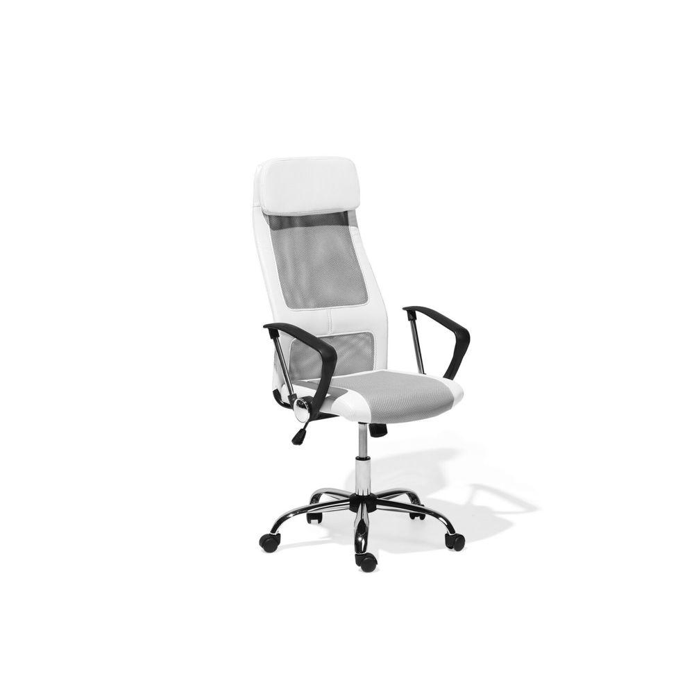 Beliani Beliani Chaise de bureau en simili-cuir blanc PIONEER - blanc