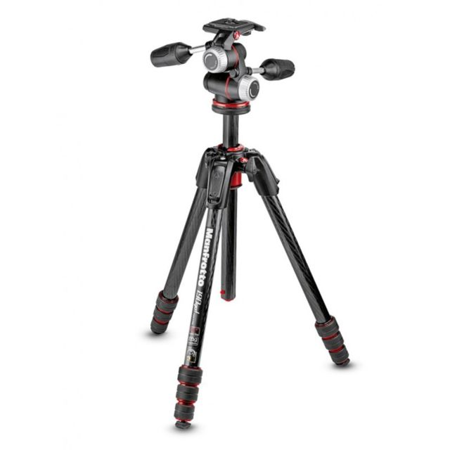 Manfrotto - MANFROTTO Trépied MT190GOC4 190GO! Carbone 4 Sections - Manfrotto