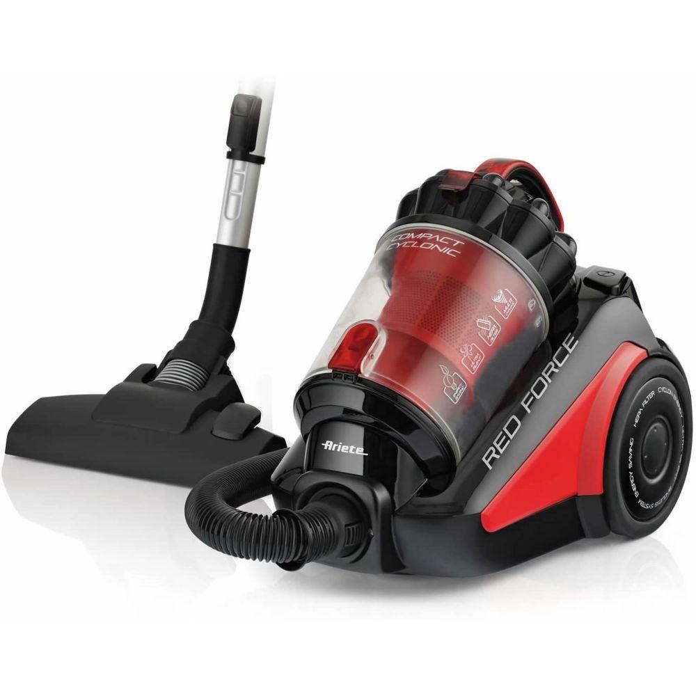 Ariete aspirateur sans Sac de 2,5L red force 700W rouge noir