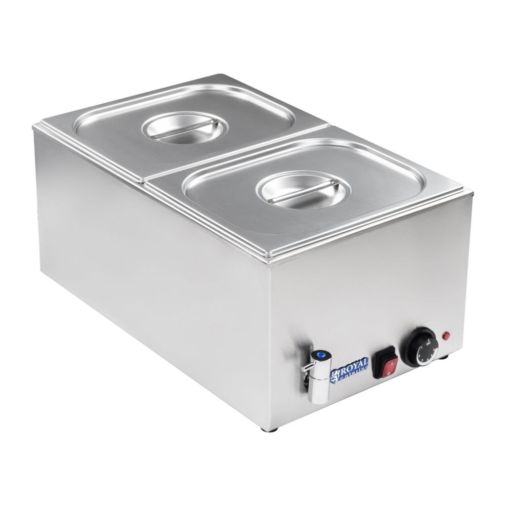 Helloshop26 Bain-marie électrique professionnel bac GN 1/2 avec robinet de vidange 1 200 watts 3614102