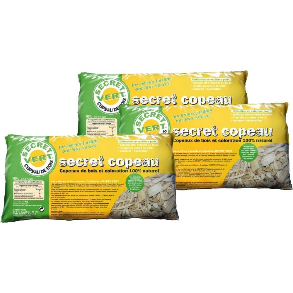 Secret Vert Paillis copeaux naturels 11kg Lot de 3
