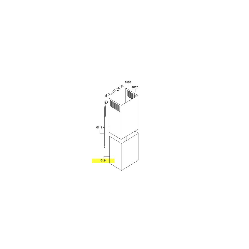 Siemens CONDUIT D AIR INFERIEUR POUR HOTTE SIEMENS - 00681547