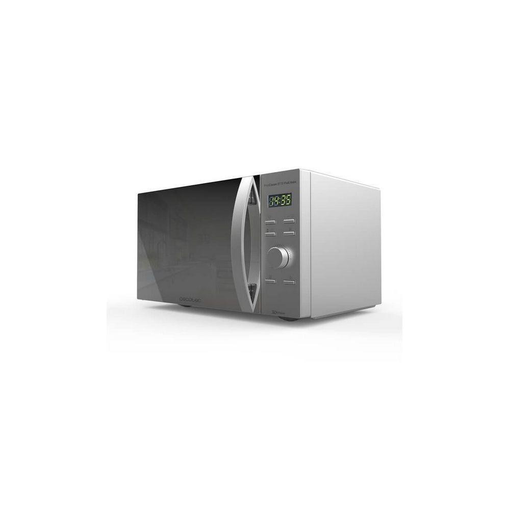 Cecotec Micro-ondes de 28L avec grill et minuterie en acier inoxydable 1000W gris
