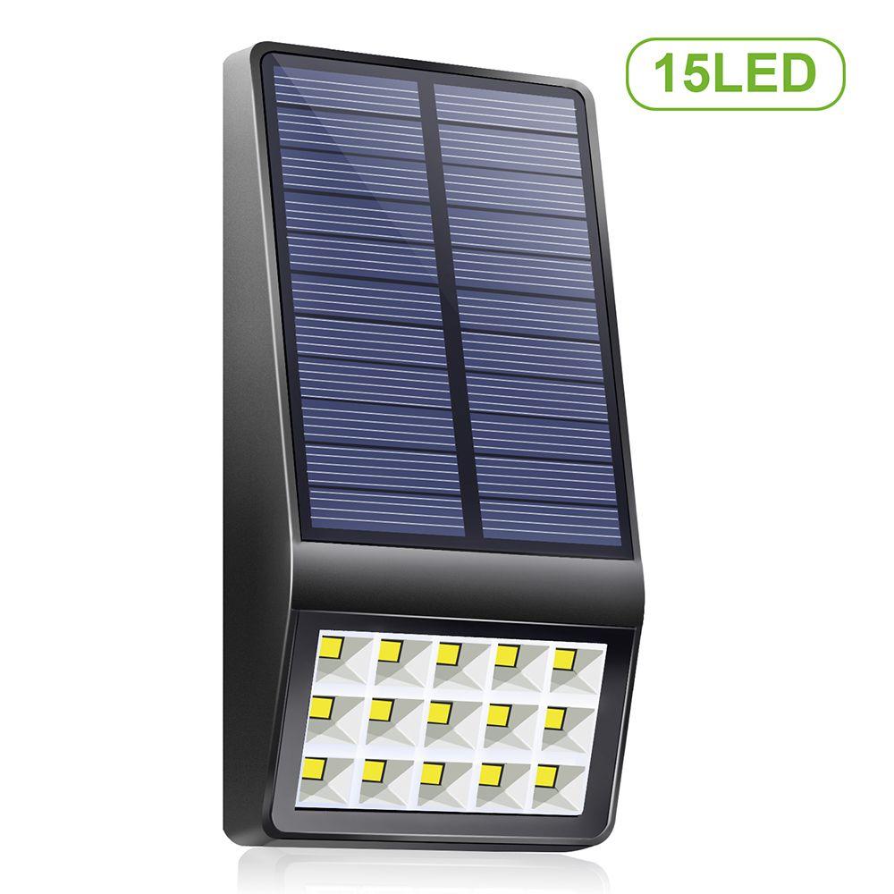 Generic Applique solaire à 15 LED avec fonction de contrôle de la lumière Lumière à énergie solaire IP65 Éclairage extérieur rés
