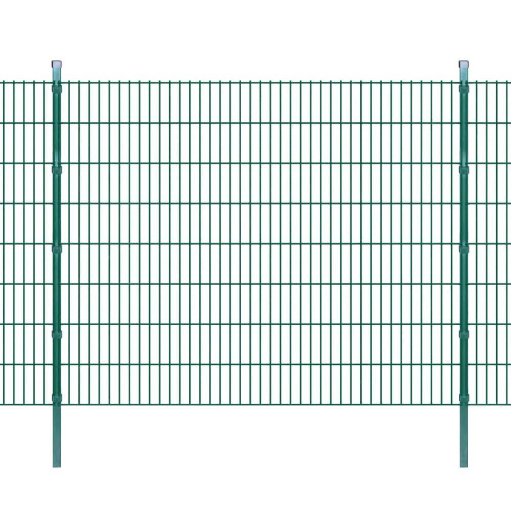 Uco UCO Panneaux et poteaux de clôture 2D pour jardin 2008x1630 mm 10 m