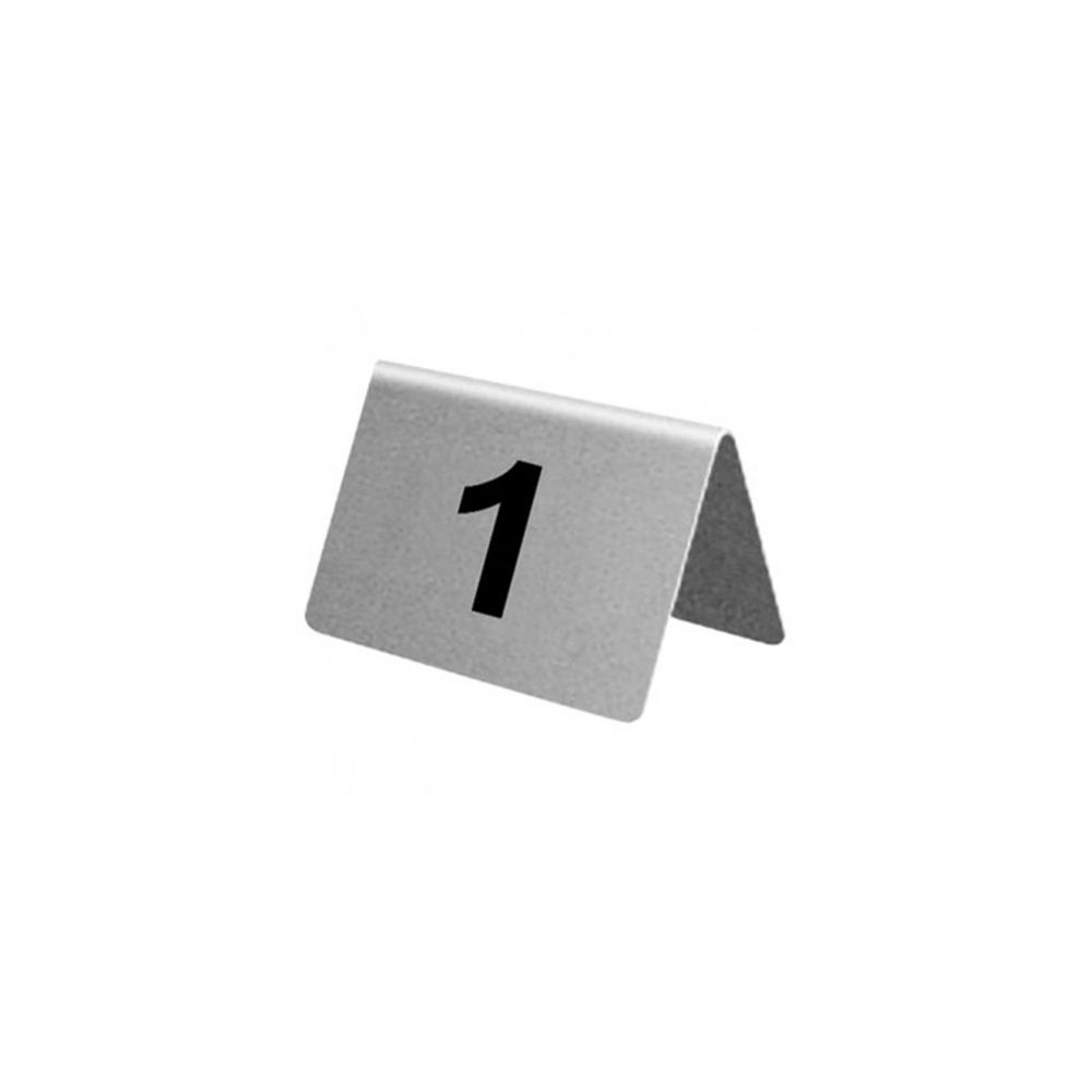 Olympia Lot de numéros de table en acier inoxydable Olympia de 31 à 40 -