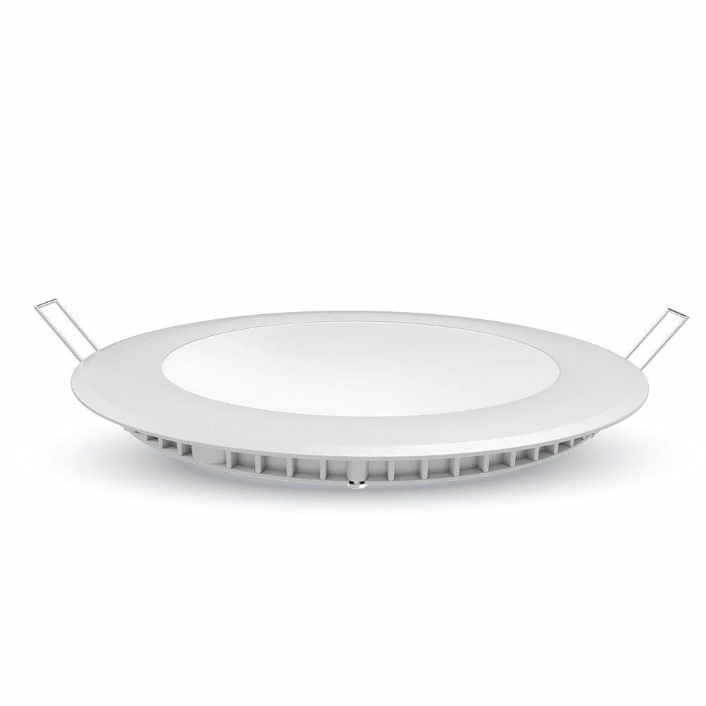 Vtac Spot encastrable LED 18W Plafonnier extra plat rond (Température de Couleur Blanc froid 6000K)