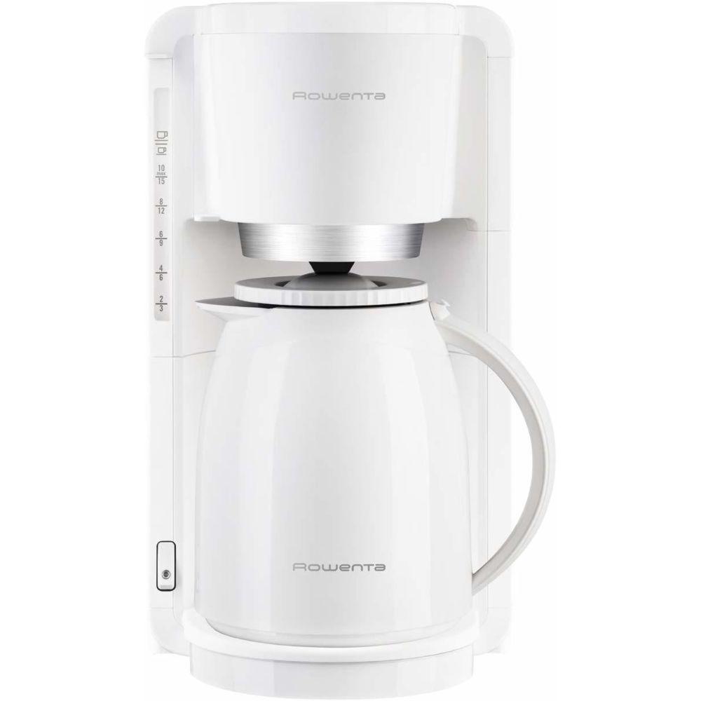 Rowenta cafetière électrique de 1L pour 8 a 12 tasses avec verseuse isotherme blanc