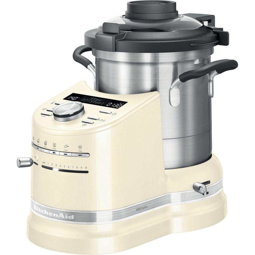 Kitchenaid robot cuiseur tout en un de 4,5L 1500W crème argent