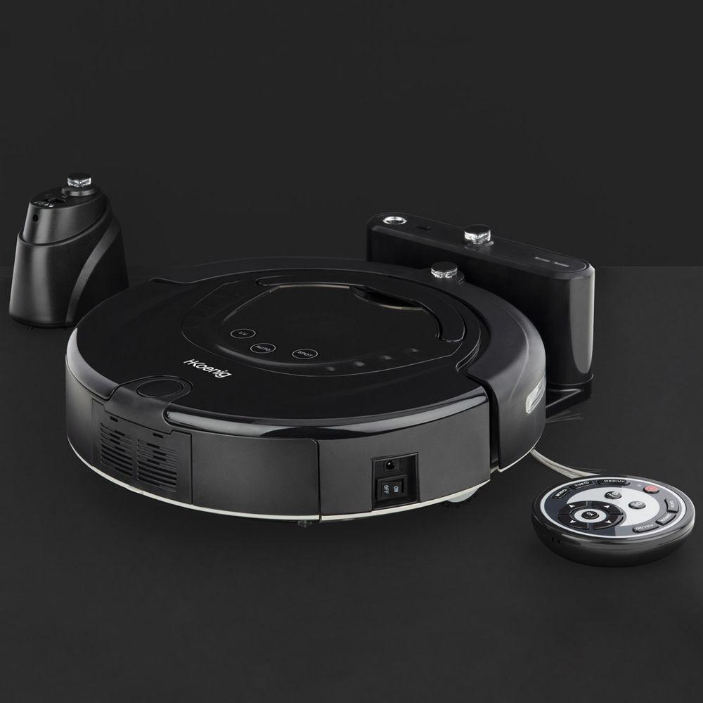 Hkoenig aspirateur robot intelligent jusqu'à 90 minutes noir