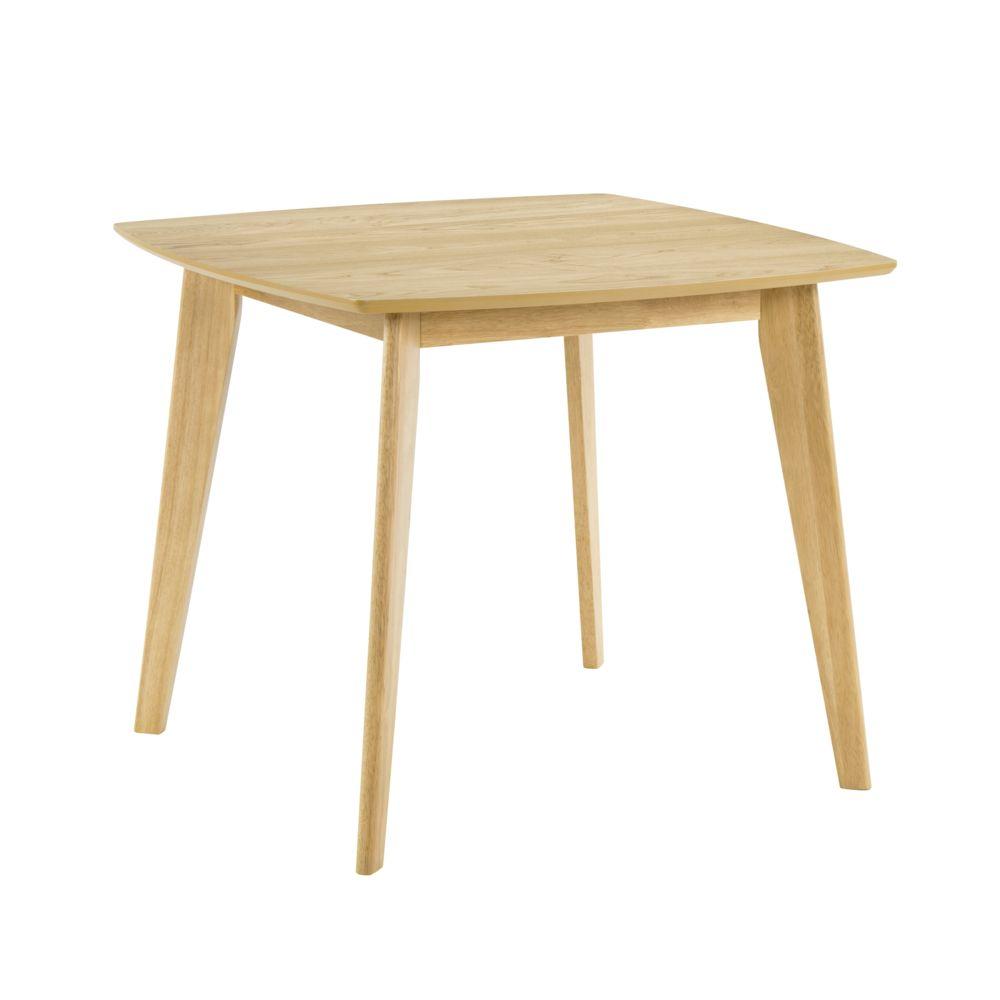 Rendez Vous Deco Table carrée Julio 90 cm en bois clair