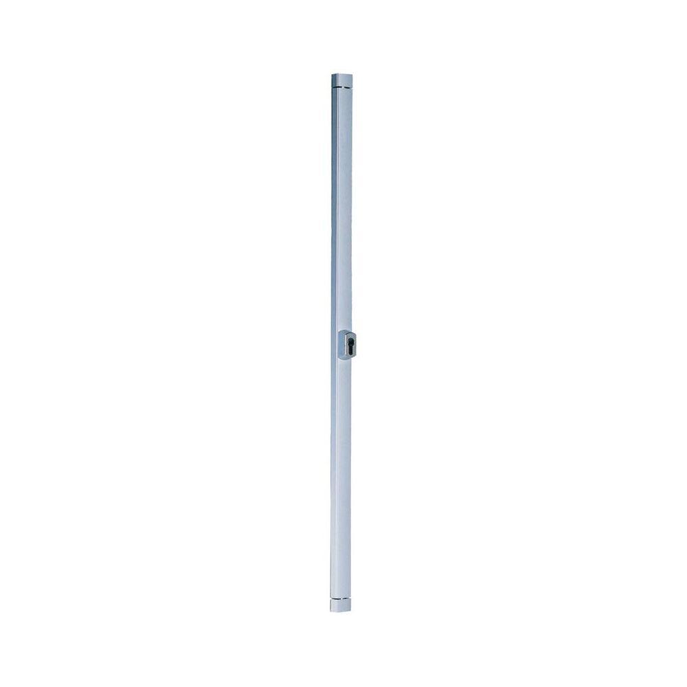 Caversiseo Serrure en applique 2 points Styl Barr CAVERS ISEO - pour cylindre profilé - lg 3 m - alu satiné - 40003001
