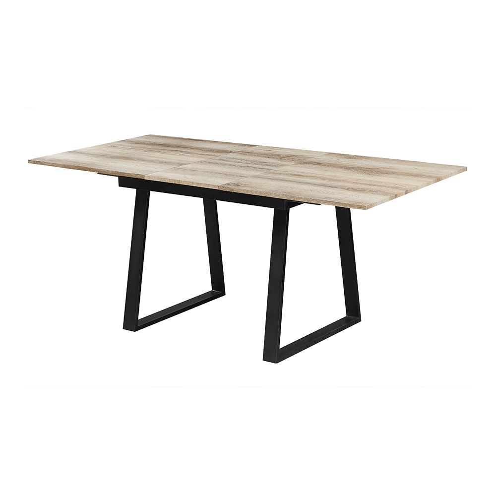 Nouvomeuble Table extensible couleur chêne vieilli VIENTIANE