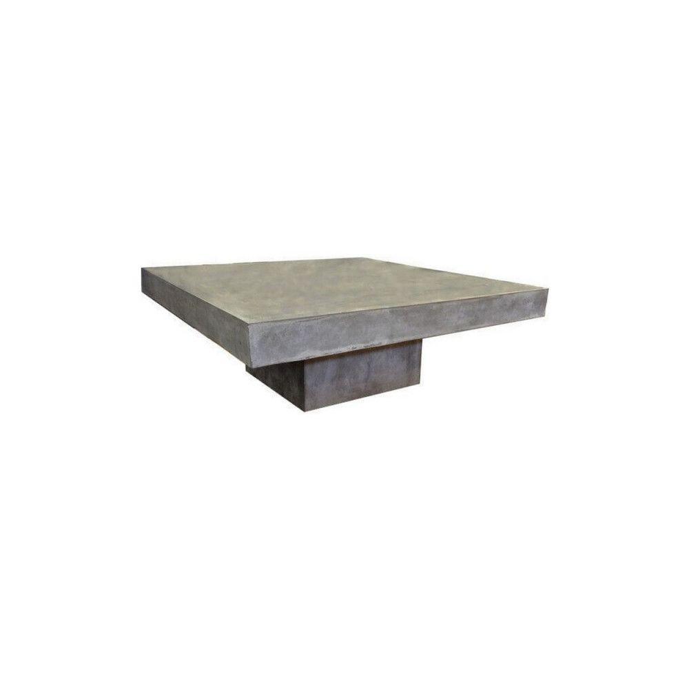 Mathi Design BETON - Table basse carrée en béton