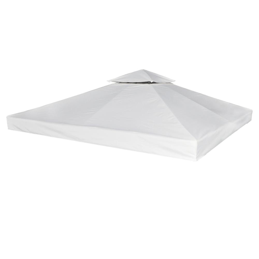 Vidaxl vidaXL Toile de Rechange pour Pergola Gazebo Blanc 310 g / m²