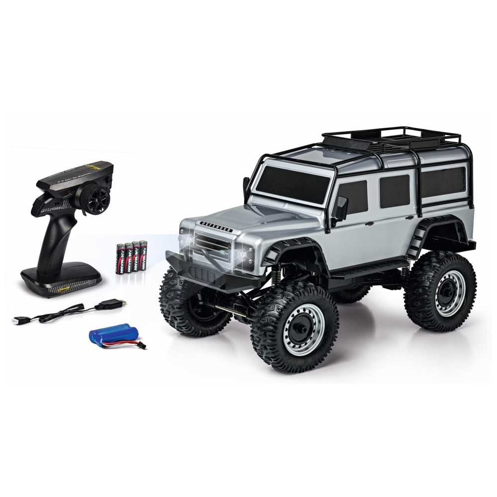 CARSON Land Rover Defender 1/8 RTR silver