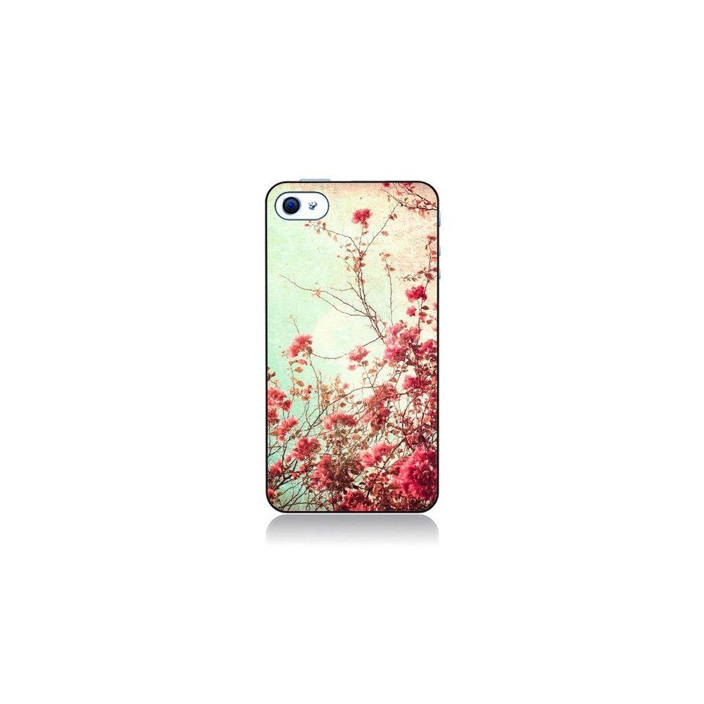 Apple - Coque iPhone 4 et 4S Fleur Vintage Rose - Nico - Coque ...