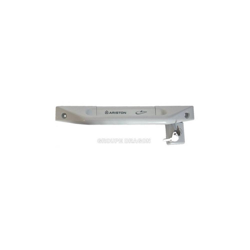 Hotpoint Poignee grise porte congelateur pour congélateur ariston