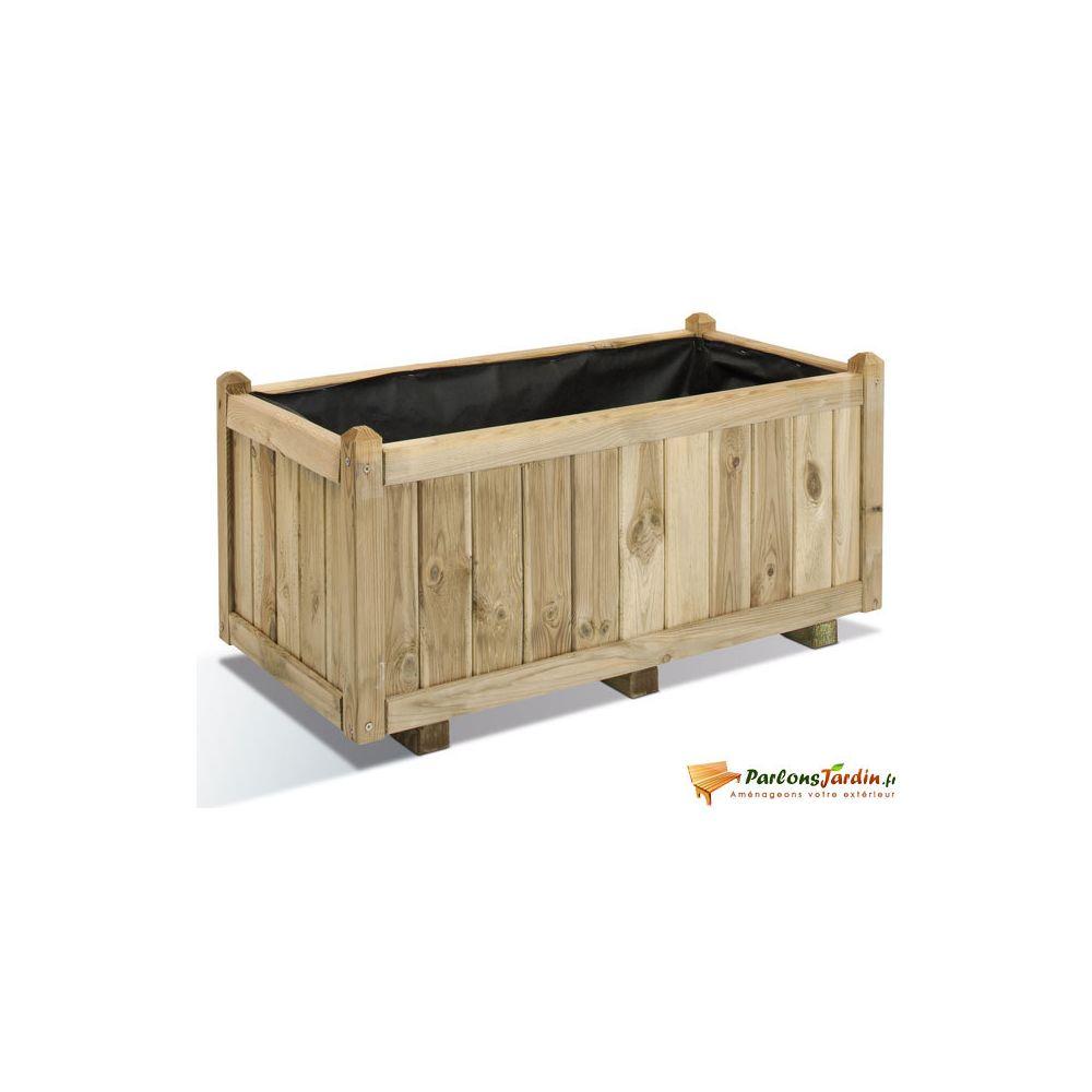 Jardipolys Jardinière rectangulaire en bois Vendôme 100