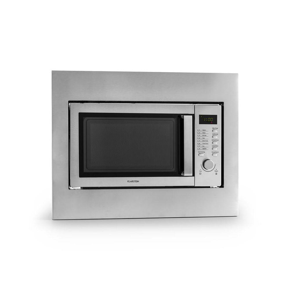 Klarstein Klarstein Steelwave four micro ondes 23L 800W grill 1000W acier + set encastrement Klarstein