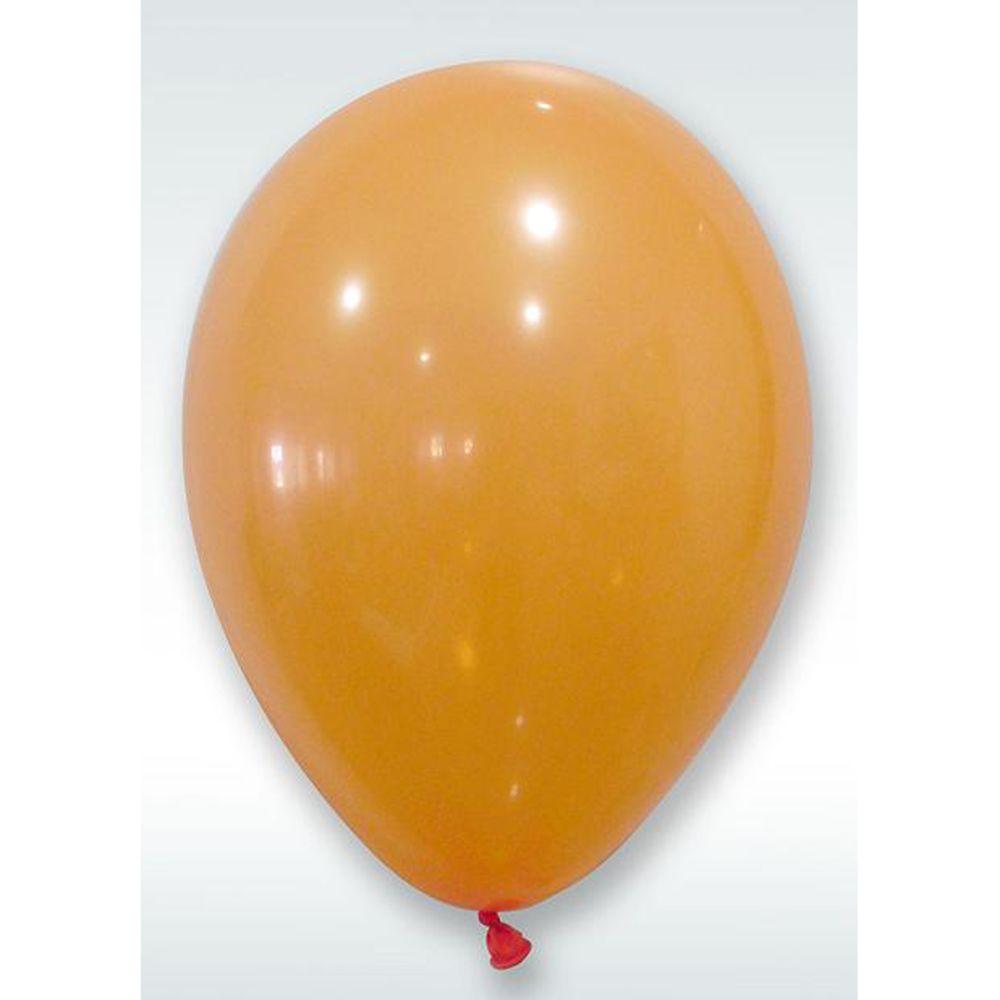 Visiodirect Lot de 600 ballons opaque coloris Orange - 25 Cm