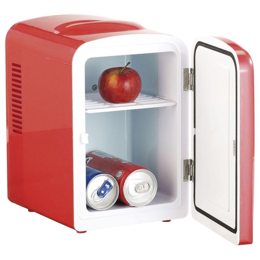 Rosenstein & Sohne Mini réfrigérateur 2 en 1 avec prise 12 / 230 V - rouge