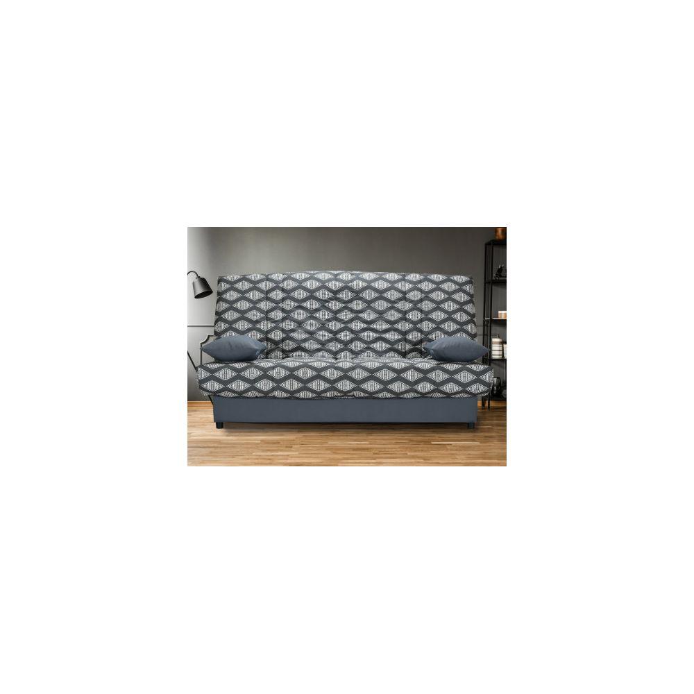 Canapé clic clac en tissu FARWEST avec coffre de rangement Imprimé VINTAGE
