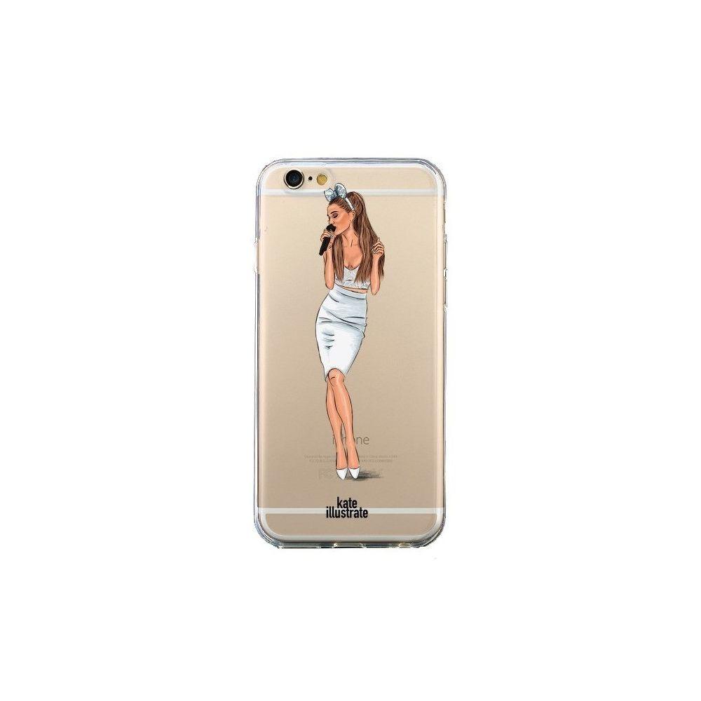 Apple - Coque iPhone 6 et 6S Ice Queen Ariana Grande Chanteuse Singer Transparente - kateillustrate