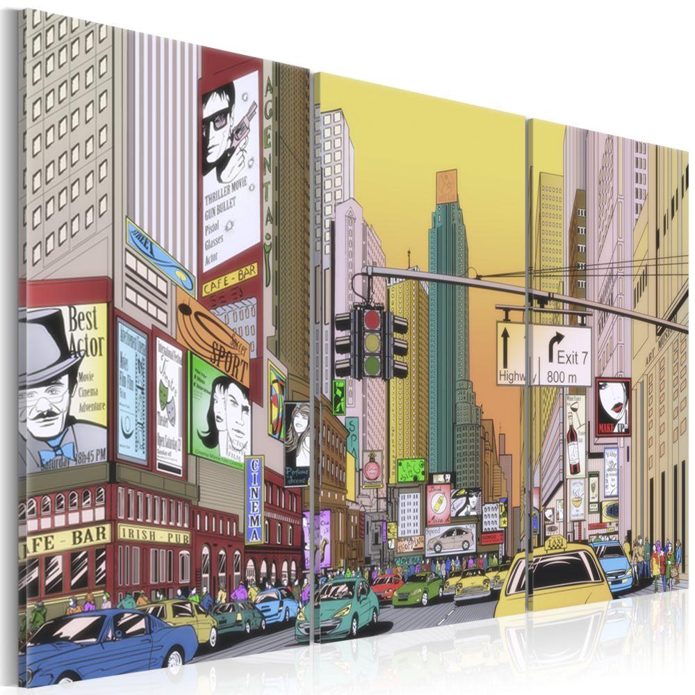 Declina Tableau - Cartoon city