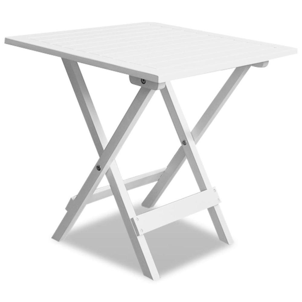 Vidaxl vidaXL Table basse d'extérieur Bois d'acacia Blanc