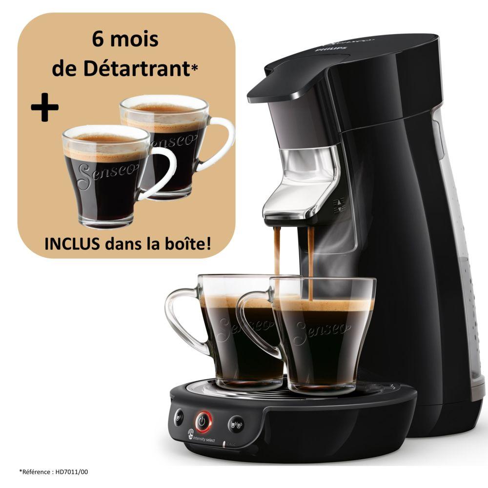 Philips Machine à café à dosettes Senseo - Viva Café - HD6563/63 - Noir
