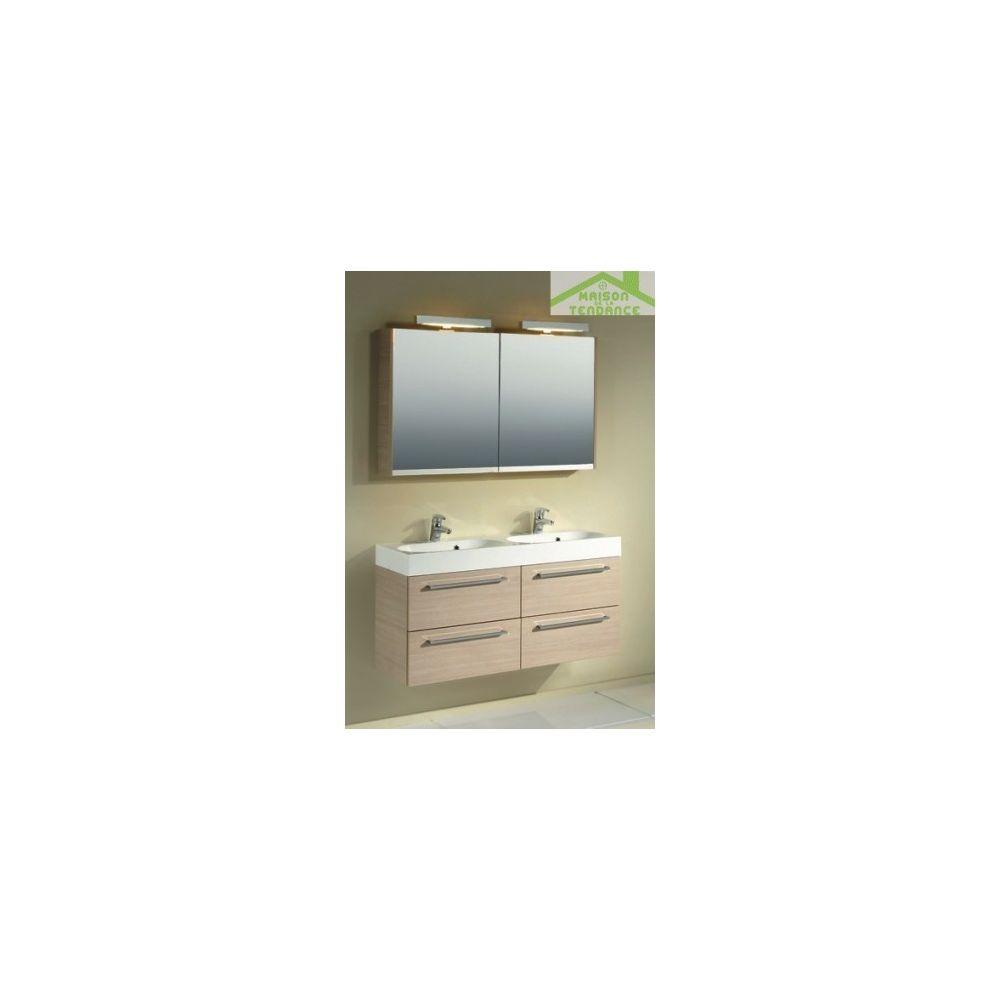 Riho Ensemble meuble & lavabo RIHO SLIMLINE SET 75 120x38 H 60,5 cm - Bois laqué brillant