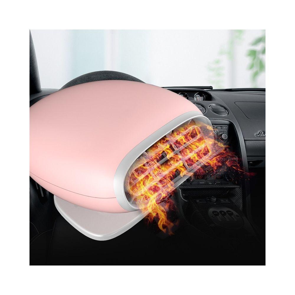 Wewoo Chauffage de voiture Ventilateur de pare-brise de vitre désembuage dégivreur CC 12Vversion ordinaire rose