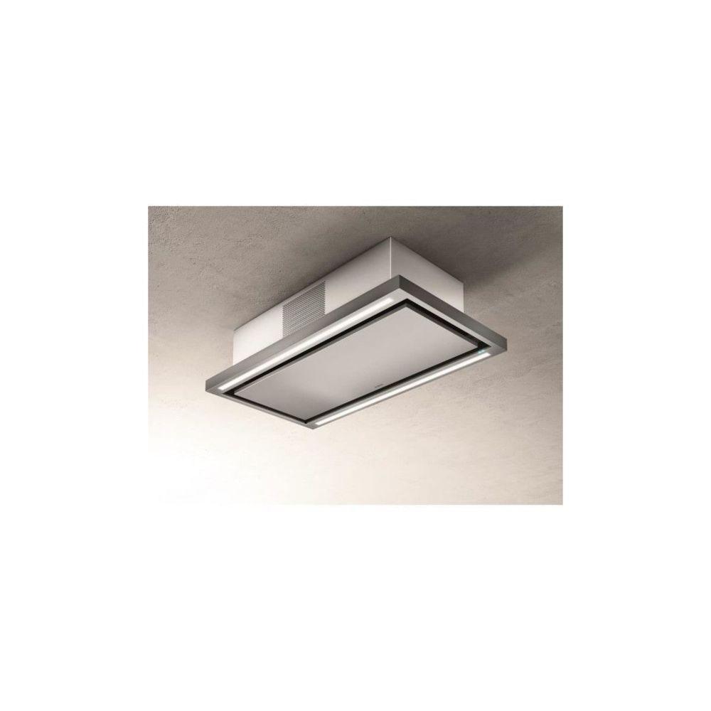 Elica Hotte De Plafond Elica Prf0141953 Cloud Seven Ix / F / 90 - Recyclage - 760 M3 Air / H Max - 3 Vitesses - L 90 Cm - Inox
